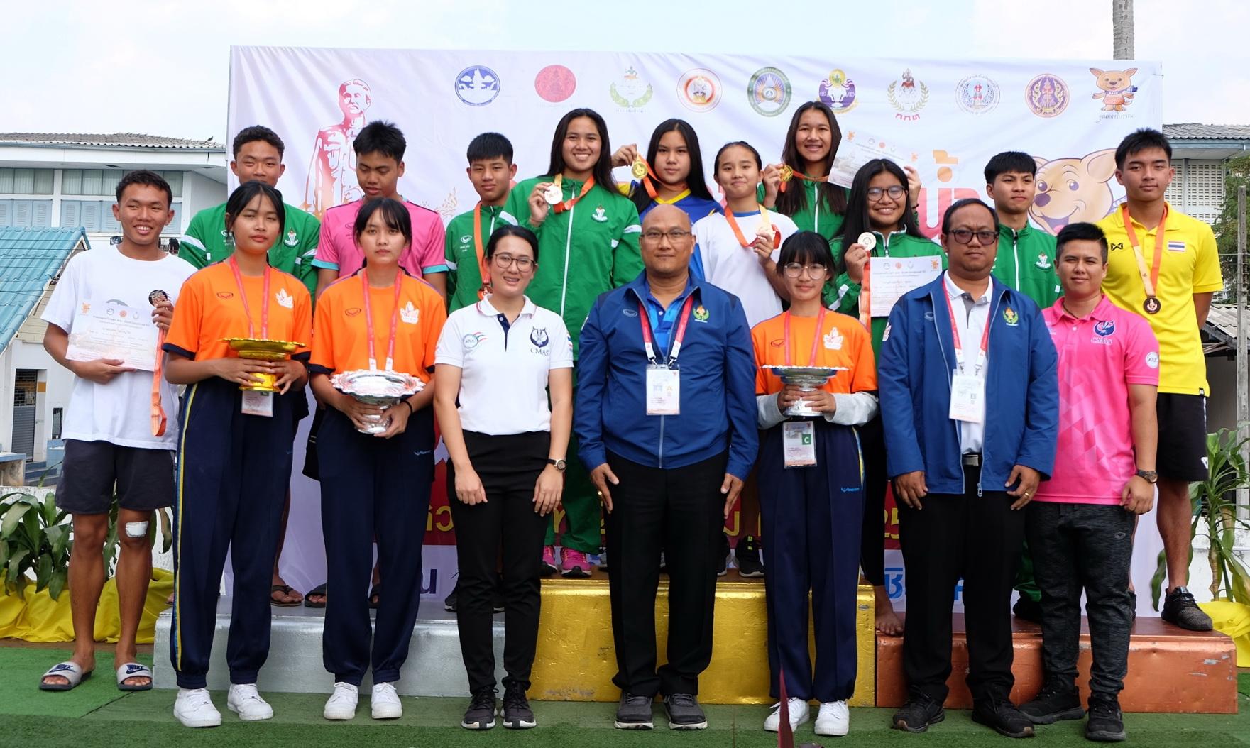 สมาคมกีฬาดำน้ำแห่งประเทศไทยจัดการแข่งขัน กีฬาดำน้ำฟินสวิมมิ่งเป็นกีฬาสาธิตในการแข่งขัน กีฬานักเรียนนักศึกษาแห่งชาติครั้งที่ 41
