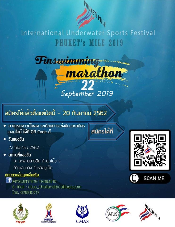 International Underwater Sports Festival 2019 Phuket's Mile